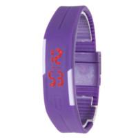 neue art und weise führte uhrfarben großhandel-2016 neue Mode Männer Frauen Gummi LED Uhr Datum Sport Armband Digitale Armbanduhr 5 Farben