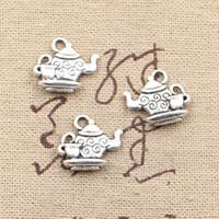 çaydanlık bilezik toptan satış-120 adet Charms demlik 13 * 15mm Antik Yapma kolye fit, Vintage Tibet Gümüş, DIY bilezik kolye