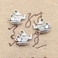 freiheitslegierungen großhandel-120pcs Charme Teekanne 13 * 15mm Antique Making Anhänger passen, Vintage tibetischen Silber, DIY Armband Halskette