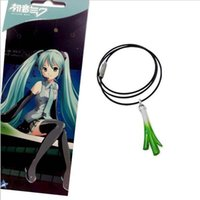 Wholesale Miku Cosplay White - Hatsune Miku Cosplay Pendant necklace Ryuk MIKU onion necklace aircraf 2017t boarding bags hanging jewelry accessories Llavero Doll Toy Cute