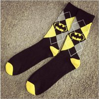 Wholesale Knee High Socks For Men - Wholesale-2016 cotton knee high long socks for men women harajuku super hero party cosplay lovers couple athletic meias