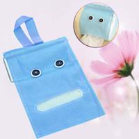 Wholesale tissue paper tube - Wholesale- Plush Cloth Tissue Box Case Holder Toilet Paper Covers Hang paper tube Blue PJW