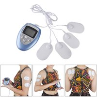 Wholesale massager toys for sale - Electric Shock Toys Therapy Massager Full Boday Massager Electronic Pulse Massager Muscle Burn Fat Pain Therapy Electrode Pad