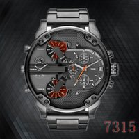 Wholesale Leather Watch Strap Italy - Italy 2017 new fashion brand men's Full steel strap wrist watch, military quartz watch, large dial sports watch clock   automatic date relog