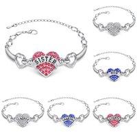 Wholesale Grandmother Bracelets - 2016 Rhinestone Bracelets Personalized Family Birth Month & Initials Mother Grandmother Bracelet Charms Cuff Bracelets Crystal Bracelets