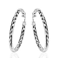 Wholesale Girls Beauty Gifts - Geometric Round Big Creole Hoop Earrings for Girl Silver Plated Career Jewelry Statement Earring European Brand Fashion Jewelry Beauty Gifts