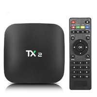 caja de tv tx2 al por mayor-Genuino 2GB 16GB TX2 Android 6.0 TV BOX Rockchip RK3229 Soporte 2.4GHz WiFi BT2.1 Smart TV Box