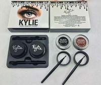 Wholesale Eyeliner Colors Waterproof - 10 pcs Kylie Jenner Eyeliner Gel Waterproof Makeup Eye Liner Gel Cosmetics Make Up Black Brown 2 Colors Free Shipping