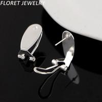 Wholesale Costume Clip Earrings Wholesale - Floret Jewelry 200 Pairs lot=400pcs Hot Sale Fingernail Earring Post Clip Earrings Costume Jewelry