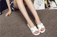 Wholesale ms wear - New summer fashion female slippers Ms. h thick bottom flat indoor slippers Home Furnishing outdoor wear shoes