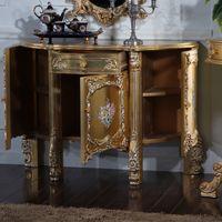 madera para pisos al por mayor-Muebles antiguos italianos - artesanía barroca agrietamiento pintura gabinete de piso