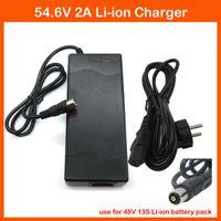 Wholesale Port Electric - High quality 48V 15AH 20AH Lithium Charger 48V 2A 54.6V 2A li-ion Charger RCA Port For 13S 48V Electric bike Battery