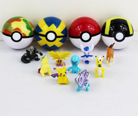 Wholesale Poke Cosplay - 7cm Cosplay New Pokeball Master Great Playset action figures Pop-up Plastic Poke Ball Go Toy for kid toys