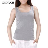 Wholesale 95 Cotton Spandex Underwear - Wholesale-Tank Tops Women 95% Cotton 5% Spandex Women's Camisole Blusas Plus Size Underwear Gootuch 049