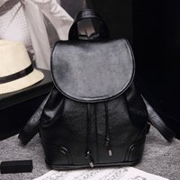 Wholesale Excellent Lady fashion handbag canvas and oxidant cowhide leather backpack