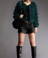 Wholesale Plus Size Mink Coats - Wholesale- free shipping new fashion kintted mink cashemre Cardigan coat women's knit sweater jacket custom plus size wholesale   retail