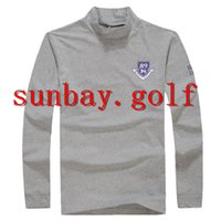 MÄNNER Golf T-Shirts Baumwolle RUND HALS Anti-Sweat TOP Qualität GOLF CLUBS LONG Hülse T-Shirts Tops Für PG 89 Pearly Gates