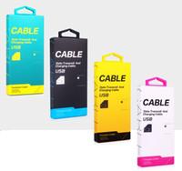étui étanche iphone 5s or achat en gros de-2016 Universal Micro USB Chargeur Adaptateur Câble Boîte au détail de papier pour iPhone 7 4S 5S 6 plus Samsung S6 Bord S7 Note 7 avec Poignée OEM