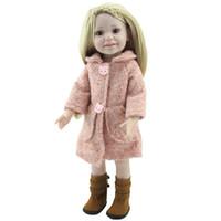 silikon bebek yapma toptan satış-Yeni Varış 18 inç Reborn Amerikan Kız Bebek Gerçekçi Bebek Oyuncakları Güzel Giysiler Ve Ayakkabı Ile Tam Vinil S ...