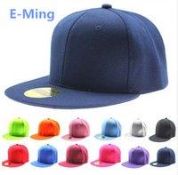 sombrero en blanco venta al por mayor-Diseñador liso Hip Hop sombreros Ajustable Snapback bordado personalizado logotipo de impresión en blanco con borde plano gorras de béisbol para adultos para hombre para mujer venta
