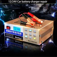 Wholesale Automatic Car Battery Charger - Newest 110V 220V Automatic Electric Car Battery Charger Intelligent Pulse Repair Type Battery Charger 12V 24V 6AH-200AH MF-2C