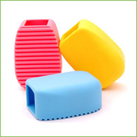 Wholesale Clothing Camera - Silicone Cleaning Brushes Candy Color Laundry Brush Hand Held Mini Laundries Rub For Home Clean Tool 2 2ww C R