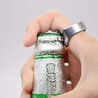 Wholesale Shaped Beer Bottle Opener - 1PC Stainless Steel Finger Ring Ring-Shape Beer Bottle Opener for Beer Bar Tool