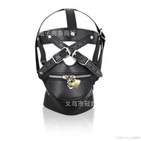 Wholesale head gear adult sex for sale - Group buy BDSM Sex Toys Black Leather Head Harness With Muzzle Leather Muzzle Bondage Restraint Gear Adult Sex Product A990