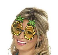 óculos fantasia vestido venda por atacado-Praia Hawaiian Party Luau Abacaxi Fancy Dress Costume Specs óculos de sol óculos