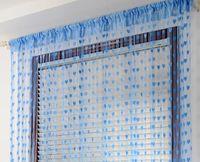 Wholesale Decorative Curtain Fabric - decorative curtain 1 *2 m   piece door window curtain 8 colors to choose