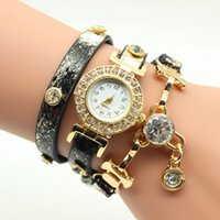 Wholesale Snake Ladies Belt - New Fashion Snake Grain Bracelet Women Watch Women Wristwatch Ladies Quartz Watch Rhinestone Watches Party Dress Watches