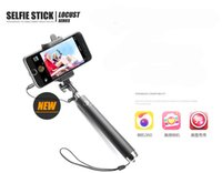 Wholesale Holder Timer - DHL Free Shipping Integrated Foldable Smart Self Timer Shutter Selfie Holder Pole Stick for iPhone Sumsung