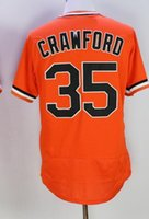 Compra San williams-barato al por mayor Gigantes de San Francisco Orange 35 CRAWEDRD jerseys de béisbol, 40 BUMGARNER Jersey de béisbol, para hombre 28 POSEY 9 WILLIAMS béisbol Wear
