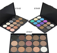 Wholesale 15 Tool - 15 Color Nude Smoked Eyeshadow Shimmer 3D Eyeshadow Makeup Palette Set Foundation Makeup Tools with Free Ship + Free Gift