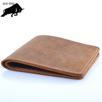 Wholesale Handmade Cowhide Purses - ZYD-COOL Famous Brand Genuine Leather Men Wallets Handmade Men's Wallet Male Money Purses Coins Wallet With ID Card Holder