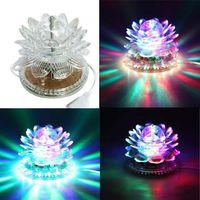 mejores etapas de dj al por mayor-Lotus Effect Light Auto Rotación 11W LED RGB Crystal Stage Light 51 unids Lámpara de bolas para la decoración del hogar DJ Disco Bar mejor regalo