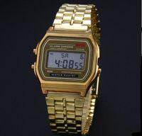 Wholesale Digital Dress - 2017 Men Quartz Movement LED Digital Dress Watch Stainless Steel Waterproof Wrist Watch