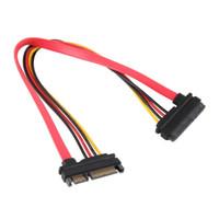 кабели hdd оптовых-Лучшее качество 7 + 15 контактный последовательный SATA данных питания Combo HDD удлинительный кабель разъем между мужчинами и женщинами