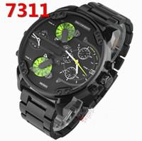 Wholesale Mens Large Dial Watch - watches men luxury brand DZ 7311 DZ7331 7312 fashion mens military watch montre homme Large dial Steel strip watch gold male wristwatch
