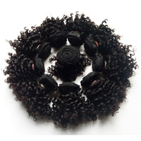 kısa insan saçı örgüleri toptan satış-Güzel Brezilyalı bakire insan Saç çift atkı Kısa bob Tarzı 8-12 inç Sapıkça kıvırcık saç örgüleri Avrupa Hint remy saç uzantıları
