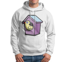 Wholesale Cute College Clothes - Men college sweatshirts cute little bird Mens Cotton Fabric Gray Pullover Hoodies slim shape outdoors casual clothing.