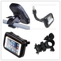 Wholesale Dirt Bike Plastic - Motorcycle Bicycle Holder Phone Stand shockproof waterproof bag for iPhone 7 6 6s plus 5S galaxy note 5 6 7 GPS bike holder bag GSZ158