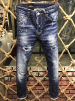 Wholesale Pictures Tights - Europe and the United States top quality of the bullet holes low waist tight new jeans real picture # 296150