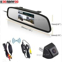 KOORINWOO HD Video Auto 4.3 polegadas LCD Car Rearview Mirror Monitor Display + 170 graus CCD Backup Inversão Rear View Camera Estacionamento Assistente