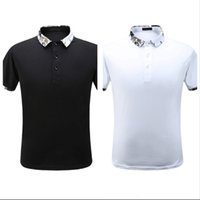 V Frühling und Sommer New Casual Polo Shirts Hohe Qualität Importierte Mercerized Cotton Fabric und Technicolor Gestrickte Ribbon Gespleißt Pure Shirt