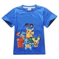 5fda332e Wholesale pokemon t shirts online - Boys Poke go Pikachu T shirts Color  Free DHL children