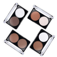 Barato Conjunto De Grooming Por Atacado-Atacado - 4 Padrões Face Shading Powder Contour Highlighter Bronzer Paleta Set Trimming Maquiagem Face Contour Grooming Pressed Powder PL1