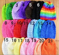 "Wholesale Handmade Baby Boy Hats - 50pcs Colorful Baby 6"" Crochet Beanie Hats Infant Handmade Knit Waffle hat String Wheat Caps Newborn cap 21colors MZ9101"