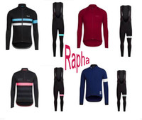 2017 Rapha Long Sleeve Cycling Jersey Sets Tour De France Primavera e Outono Bisiklet Wear Bike Maillot Ropa Ciclismo Bicycle MTB Clothes