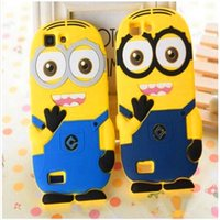 Wholesale Iphone 5s Cases Minion - 3D Cartoon Despicable Me Case Minions Minion M2 Soft Silicone Rubber Cases For iphone 7 7 plus 6 6s plus 5s se samsung s7 s7 edge s6